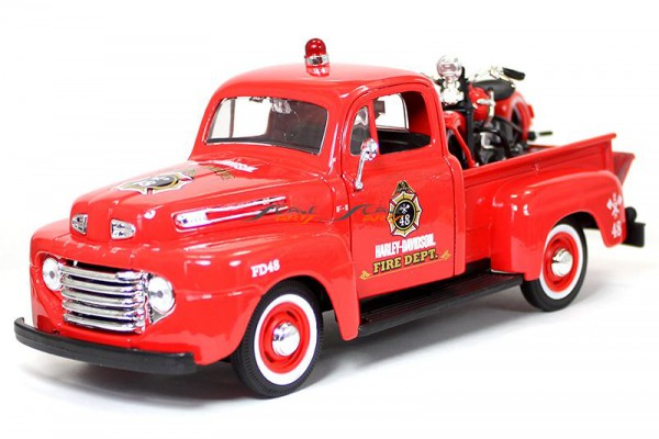 1948 Ford F-1 Pickup + 1936 EL Knucklehead 1:24 Maisto