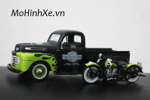 1948 Ford F-1 Pickup + 1948 Motor Harley FL Panhead 1:24 Maisto