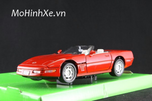 1995 Chevrolet Corvette mui trần 1:24 Welly
