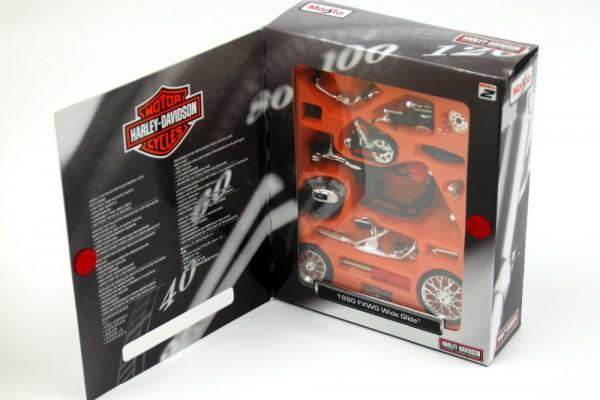 Bộ KIT Lắp ghép 1980 Harley-Davidson FXWG Wide Glide 1:18 Maisto