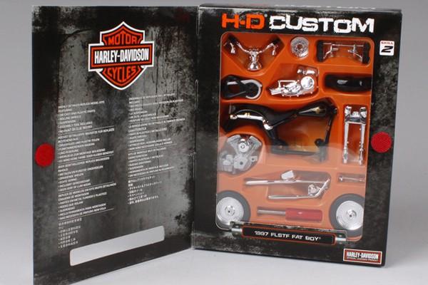 Bộ KIT Lắp ghép 1997 Harley-Davidson FLSTF Fat Boy 1:18 Maisto