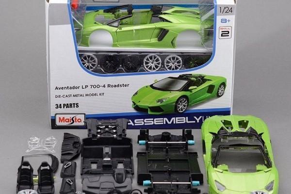 Bộ KIT Lắp ghép Lamborghini Aventador LP700-4 Roadster 1:24 Maisto