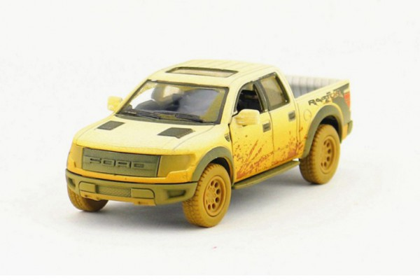 Ford F-150 SVT Raptor SuperCrew Muddy 1:36 Kinsmart