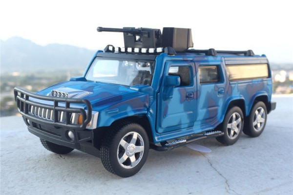 Hummer H2 6x6 SUV 1:32 Alloy Metal