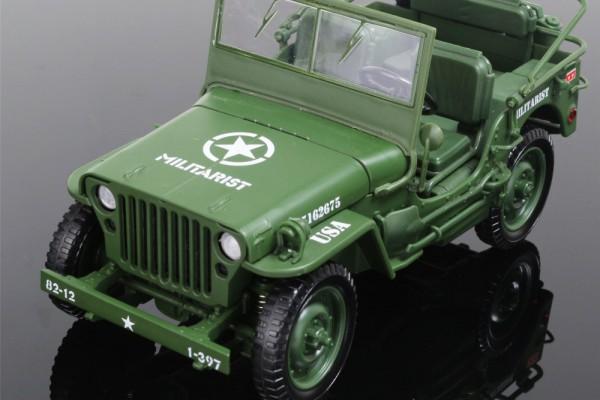 Jeep Militarist 1:18 KDW