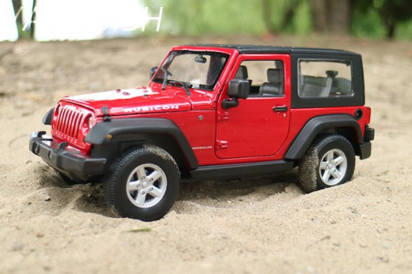 Jeep Wrangler 2007 mui kín 1:24 Welly