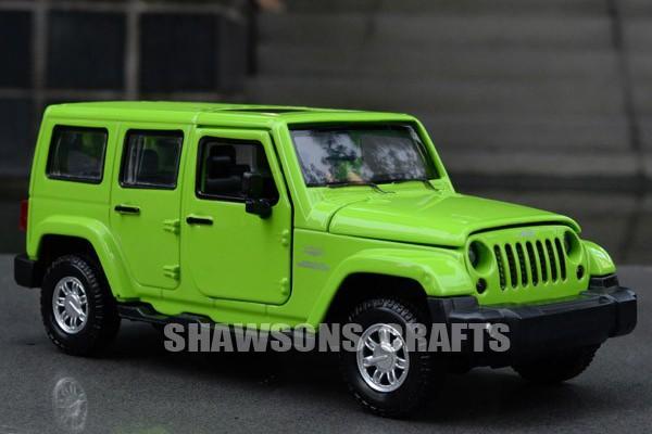 Jeep Wrangler Sahara 1:32 Alloy Metal