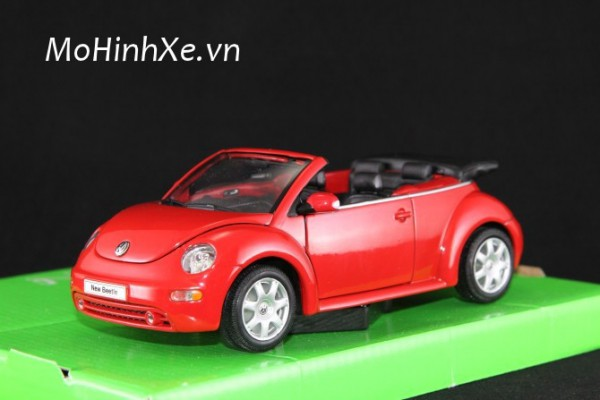 Volkswagen New Beetle Convertible mui trần 1:24 Welly