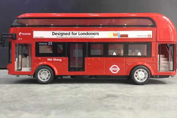 Xe Bus 2 tầng London No.23 1:32 KDW