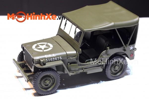 1941 Jeep Willys MB mui kín 1:18 Welly