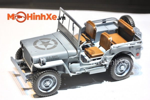 1941 Jeep Willys MB mui trần 1:18 Welly