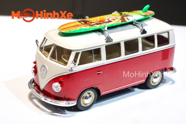 1963 Volkswagen Bus T1 With Surf Board 1:24 Welly