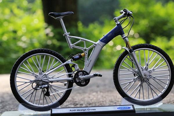 Mô hình xe đạp Audi design Cross 1:10 Welly