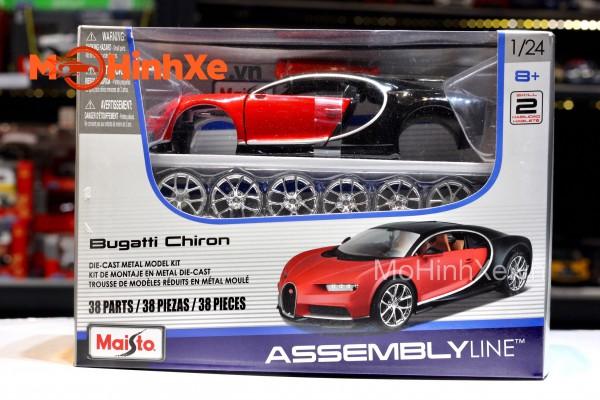Bộ KIT Lắp ghép Bugatti Chiron 1:24 Maisto