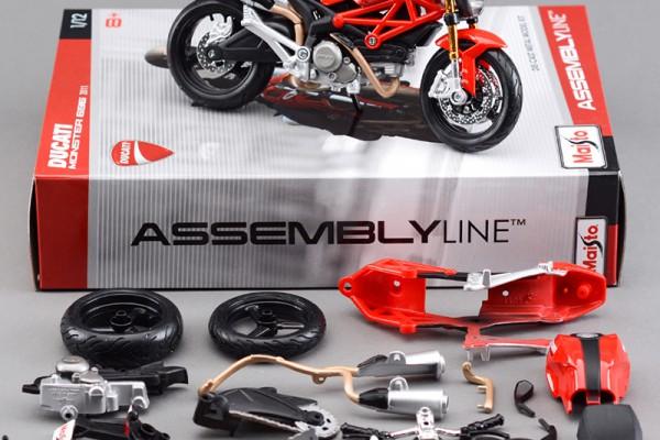 Bộ KIT Lắp ghép Ducati Monster 696 1:12 Maisto