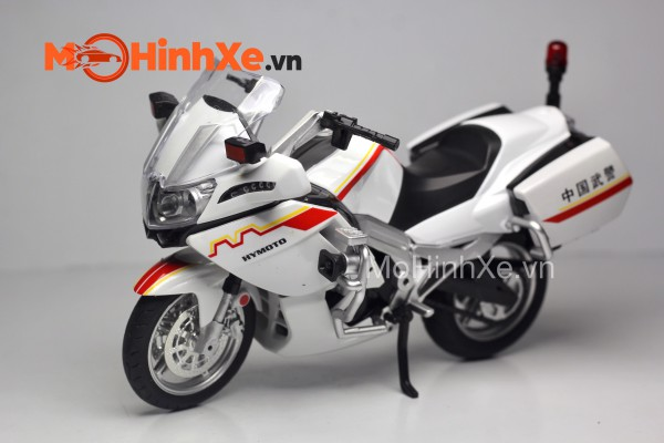 CF650G Motorcycle Police 1:12 HuaYi Model