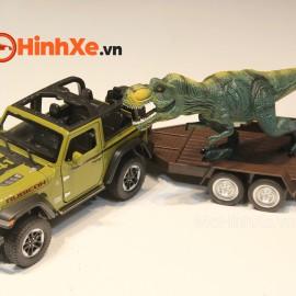 Jeep Rubicon kèm khủng long 1:24 Mini Auto