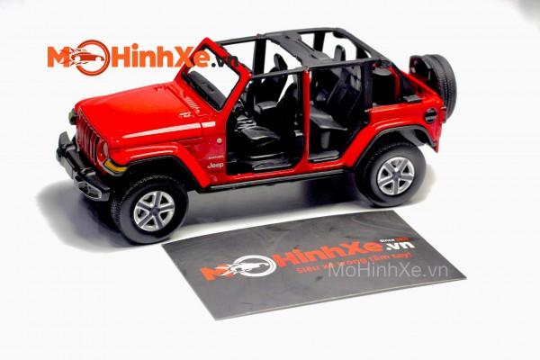 Jeep Wrangler Sahara Unlimited Không cửa 1:32 Jackiekim